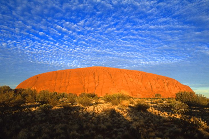 The Outback   Beautiful Ayers Rock in the Outback at sunrise.