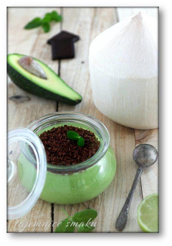 Mus z awokado z wodą kokosową, miętą i czekoladą – Tajemnice smaku