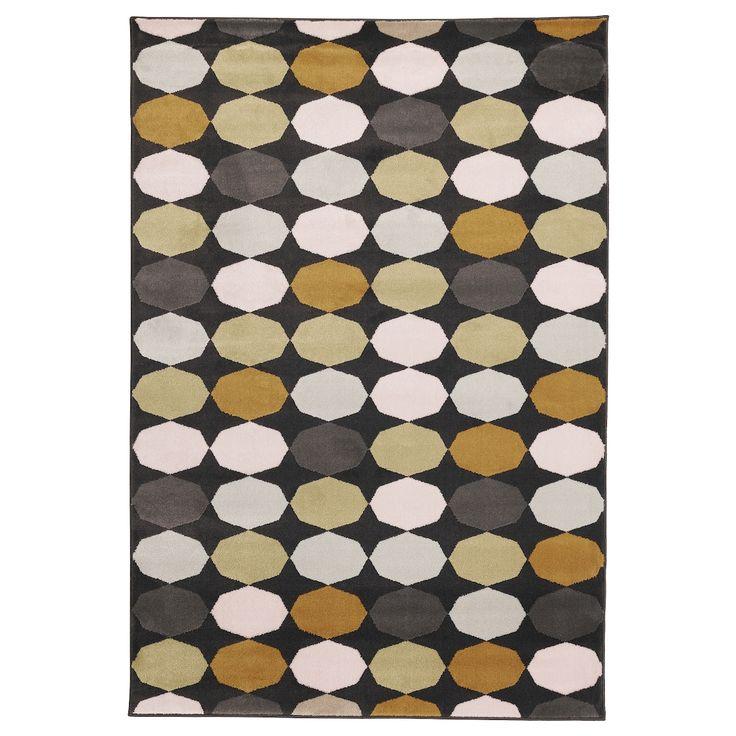 """torrild rug low pile  multicolor 4 ' 4 """"x6 ' 5 """"  rugs"""
