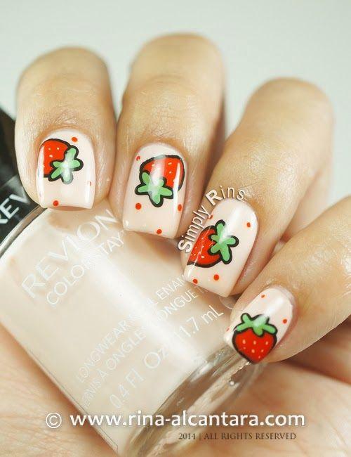 Aardbeien nagellak - 01