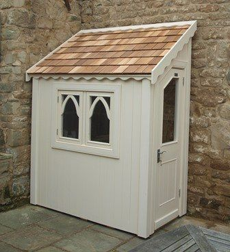 Gothic half shed finished with sadolin superdec in burlesque (Half-169)