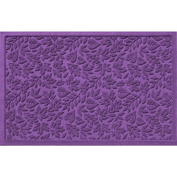 WaterGuard Fall Day Indoor Outdoor Mat ($196) ❤ liked on Polyvore featuring home, rugs, purple, leaf rug, purple rug, fall rugs, patterned rugs and leaf area rug