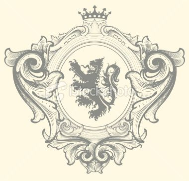 Baroque Family Crest Royalty Free Stock Vector Art Illustration