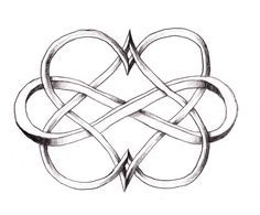 Infinity with Two Hearts - Tattoo Ideas Central (hearts one color, infinity another?) Would be a cool mother daughter tattoo