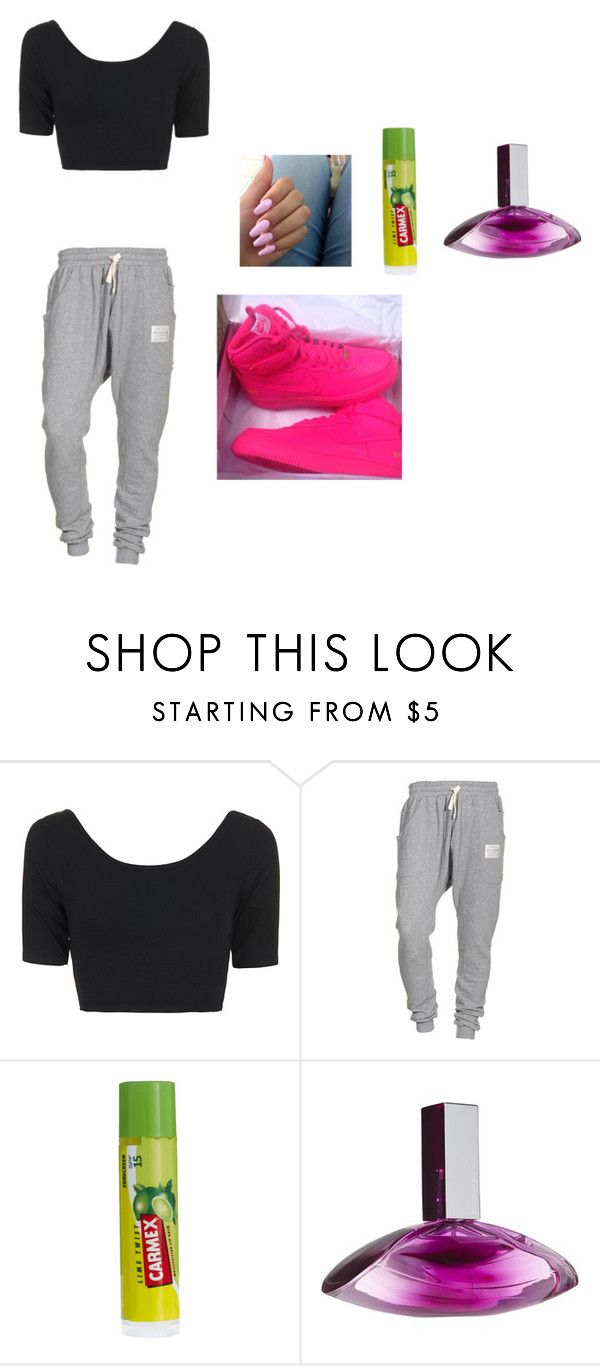 """""""With nash grier, hayes grier, my sister, the jacks, nate maloley, matt espinosa, and jake foushee all day and night, I spend the night at madison beer's house"""" by slayyeettia ❤ liked on Polyvore featuring Topshop, Religion Clothing, Carmex and Calvin Klein"""