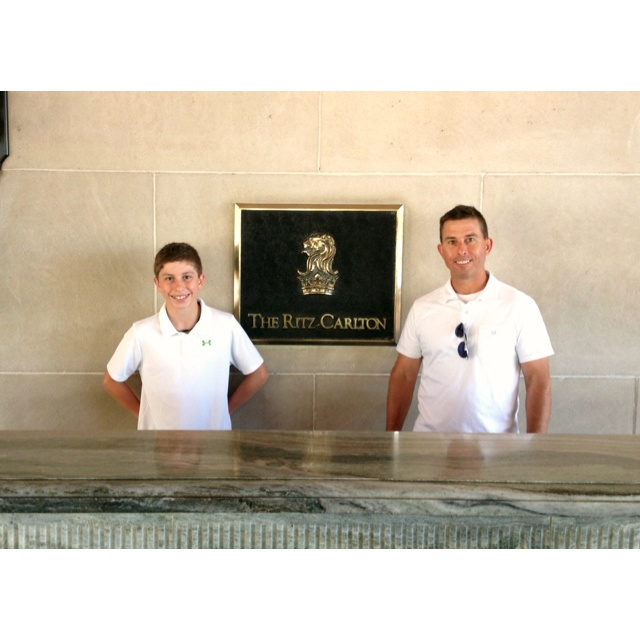 Will & Dad at the Ritz Carlton Phoenix, ready for Track Orientation