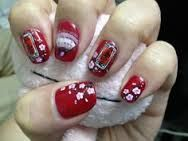 Image result for elegant nail designs red and gold