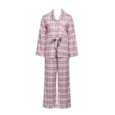 Pink Check Flannel Pjs by Magnolia Lounge   Pyjamas.com.au