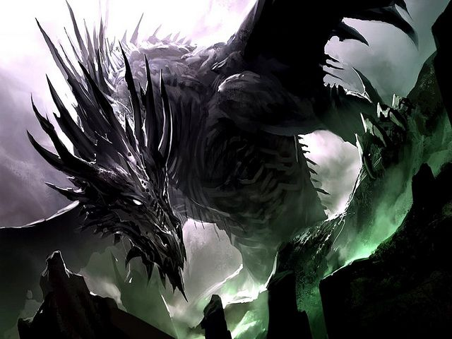 Ancalagon the Black. One of my favorite fictional dragons....ever!