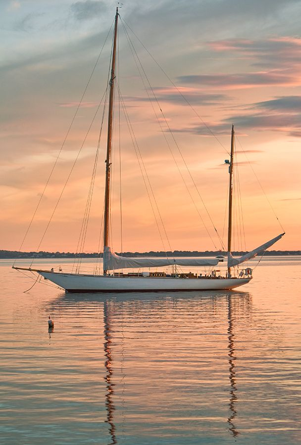 Mast Reflections - Bristol Harbor - Bristol, Rhode Island.
