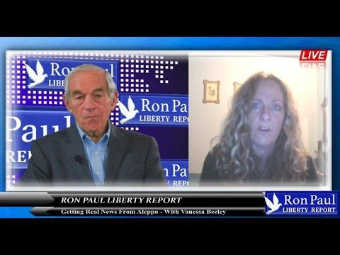 """Getting Real News From Aleppo - With Vanessa Beeley.""""There is plenty of reporting about what is going on in Aleppo, but there are very few reporters. In today's Liberty Report we are joined live from Syria by independent journalist and researcher Vanessa Beeley for some rare on-the-ground reporting. You can find (and support) Vanessa's work on her website: https://thewallwillfall.org/"""