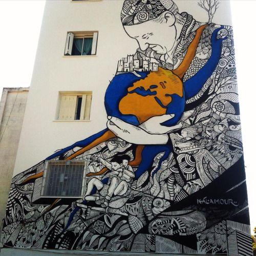 #StreetArt #Grafitti #Morocco #StreetArtInMorocco #Jidar #Mural Photo Credits: Hamid Ettaybi