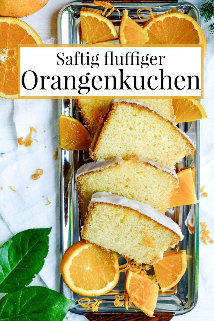 Saftig fluffiger Orangenkuchen