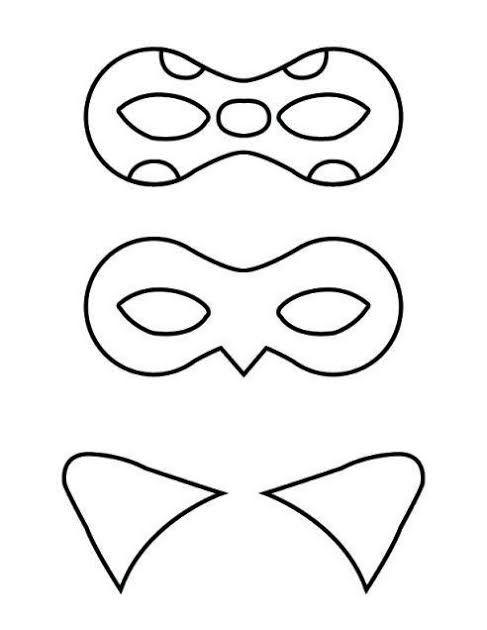 Resultado de imagem para molde mascara ladybug para