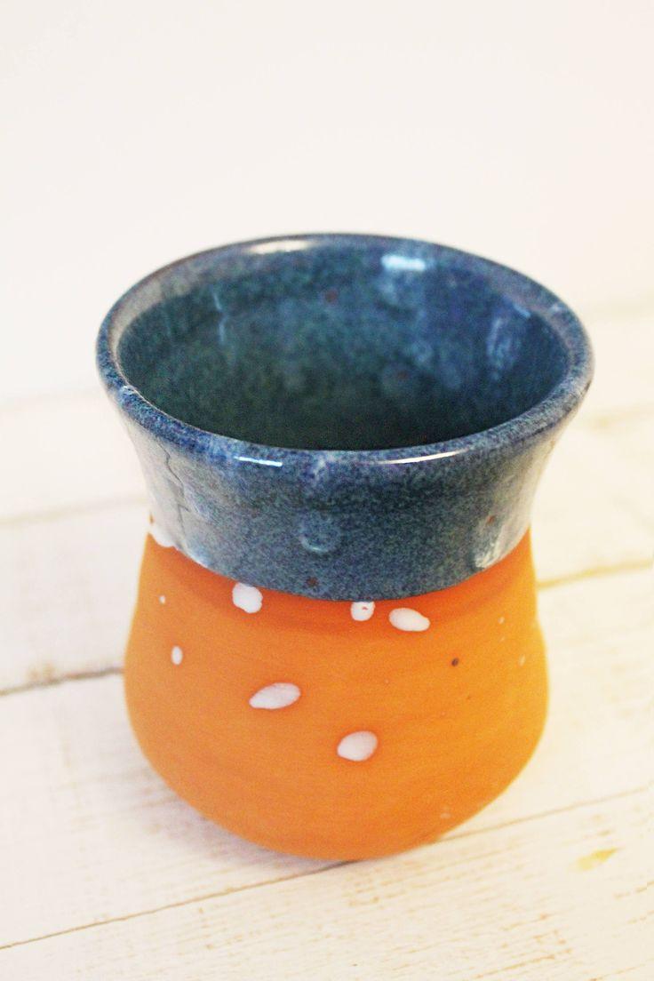 Artisan Pottery - Original Ceramic Mug - Clay Pot - 300 ml by KIWIetnoArt on Etsy