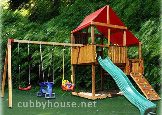Turbo Swing Set Cubbyhouse, cubby house australia, cubby houses for sale, cubby houses