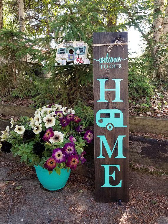 Porch Signs Camper Welcome Signs Porch Decor Outdoor Decor