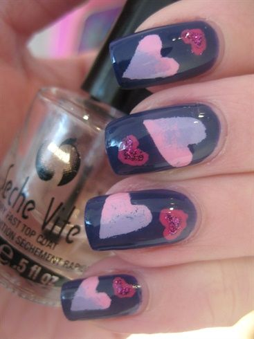 Airbrushed hearts without airbrushing by Cajanails - Nail Art Gallery nailartgallery.nailsmag.com by Nails Magazine www.nailsmag.com #nailart