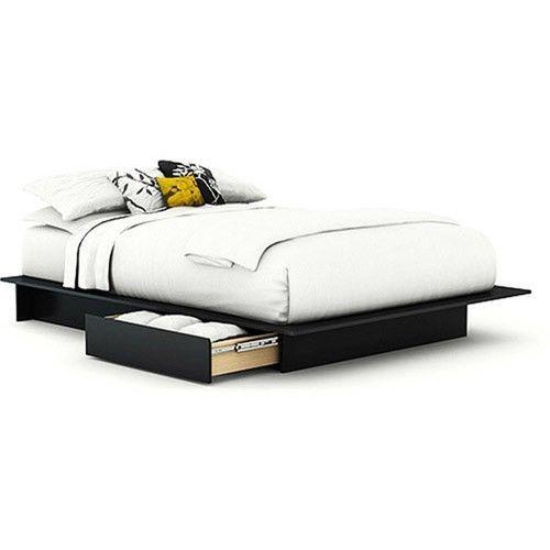 Bed Bedroom Storage Platform Furniture Full Queen Size Mattress Set Frame  #ad