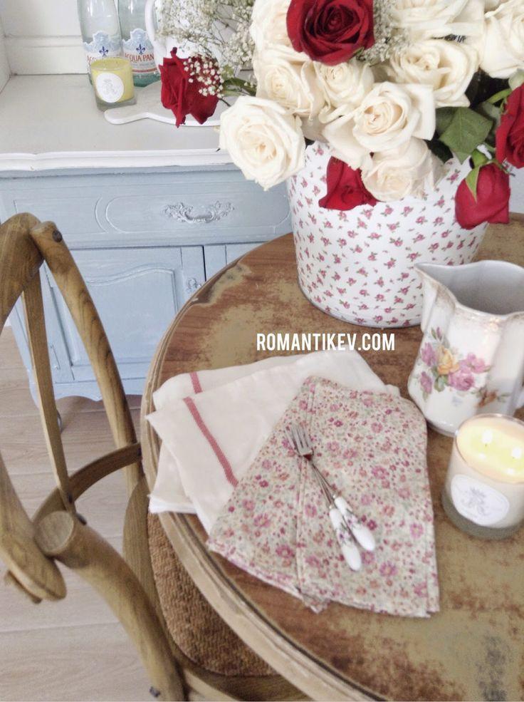 Romantik country dekorasyonu Romantik evim Kır evi tarzı