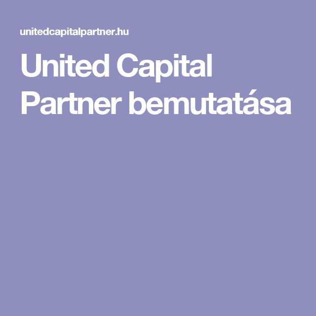 United Capital Partner bemutatása
