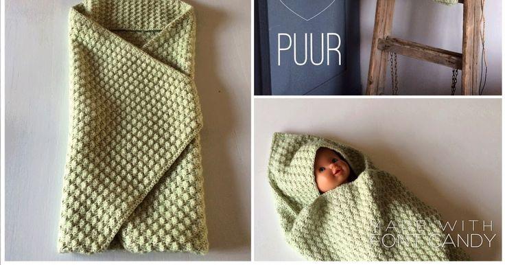 Garenwinkel Henja: Patroon babycape - Hooded baby blanket