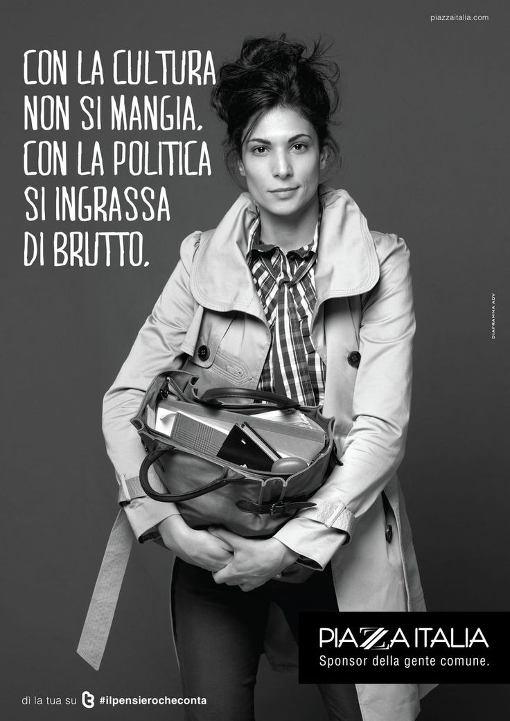 """Piazza Italia scende in Piazza con gli italiani: """"Con la cultura non si mangia. Con la politica si ingrassa di brutto."""""""