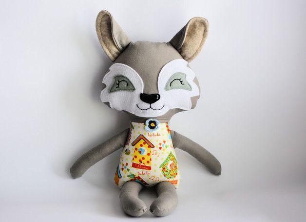 Wilk - Gosia - 45 cm - Pani-Niteczka-PyrToy - Zabawki dla dzieci