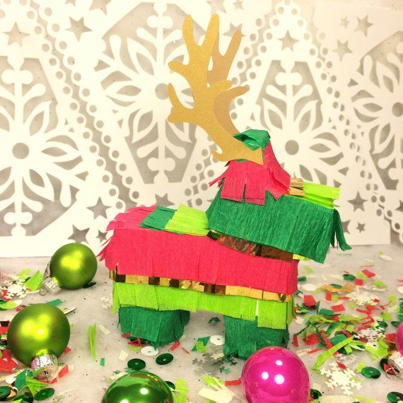 Delightful Mexican Christmas Party Ideas Part - 4: Fiesta Christmas Party Decorations, Piñata Party Favors, Mini Piñata  Decorations, Mexican Holiday Piñatas