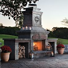 Outdoor Brick Ovens & Designs from Belgard Hardscapes: Dome Shaped Brick Ovens