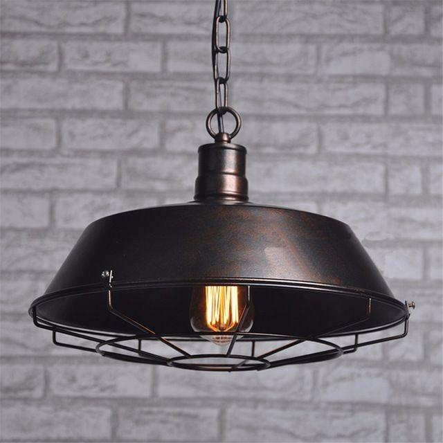 2 kleuren Zwart en Roest industriële hanglamp kroonluchter thuis eetkamer lichten