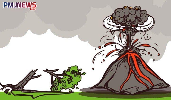 Cara Gambar Gunung Meletus Sketsa Cara Menghadapi Bencana Alam Gunung Meletus لم يسبق له مثيل الصور Gunung Meletus Cara Menggam Cara Menggambar Sketsa Gambar