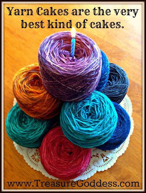 Knitters need yarn cakes! TreasureGoddess Yarns Blog | DO ...
