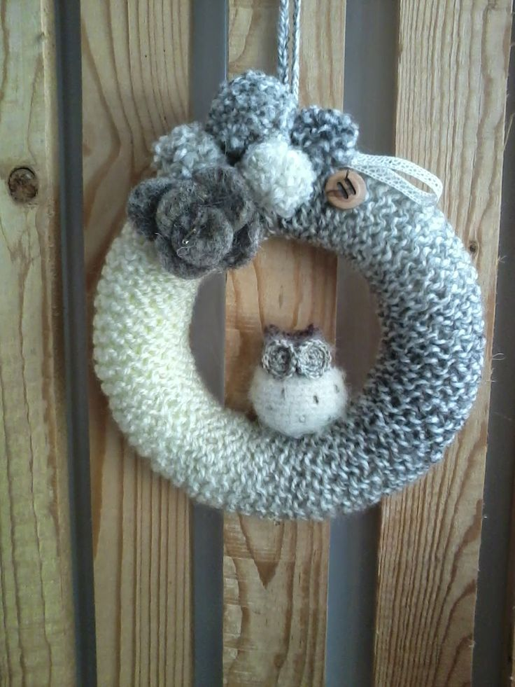 Owlwreath #Owl #Wreath #Crochet