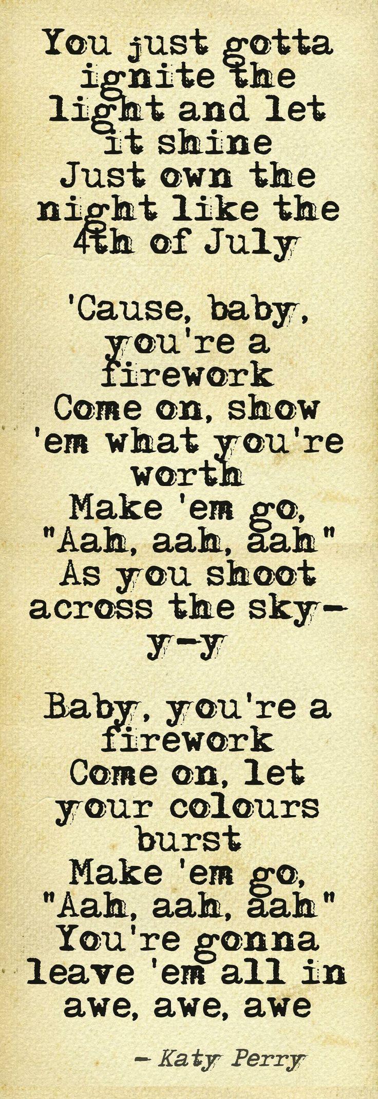 Plastic bag katy perry lyrics - Katy Perry Firework