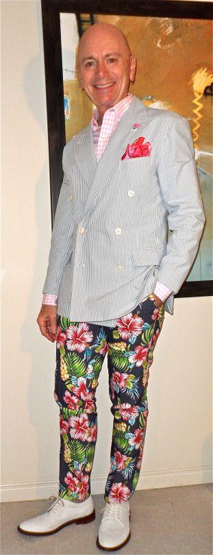Polo Ralph Lauren DB seersucker blazer, Tommy Hilfiger shirt, Edge tropical print pants, Aldo nu-bucks… #PoloRalphLauren #TommyHilfiger #Edge #Aldo #mensfashion #fashion #sartorial #sprezzatura #dapper #dapperstyle #dandy #dandystyle #menshoes
