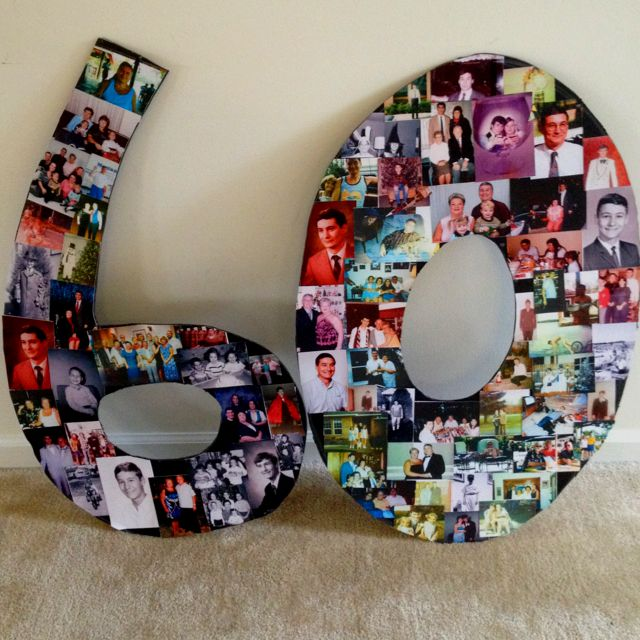 Birthday photo letters. This is such a cute idea, espcially for a grandparent!