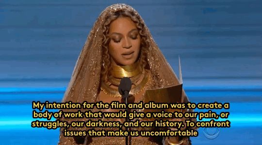 Beyoncé made a moving acceptance speech at the Grammys that insisted on a new media landscape that shows more positive images of girls of colour