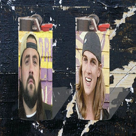 Jay And Silent Bob Custom Bic Lighters by SkaPunkAndJunk on Etsy