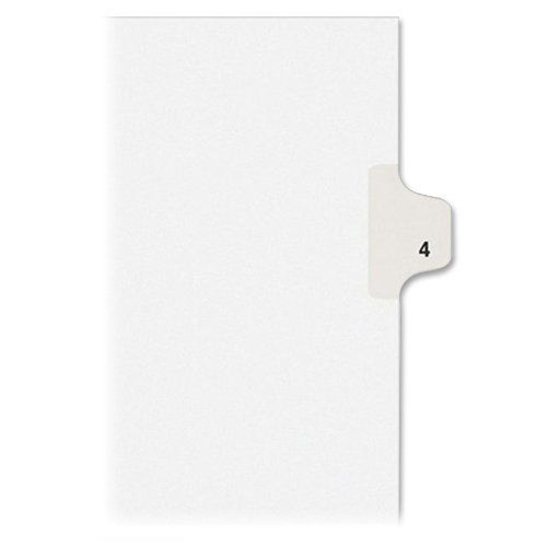 Shop Avery Individual Legal Exhibit Dividers, Allstate Style, 4, Side Tab, 8.5 x 11 inches, Pack of 25 (82202) online at lowest price in india and purchase various collections of Disc Title Printers in AVERY brand at grabmore.in the best online shopping store in india