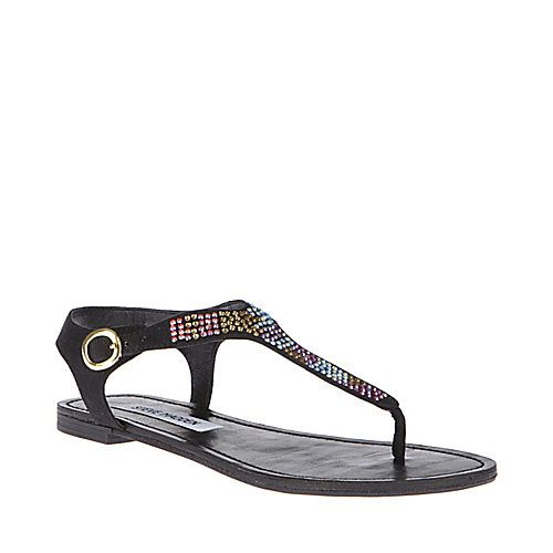 BONKERZ black MULTI womens sandal flat t-strap - Steve Madden
