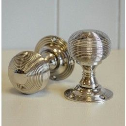 Beehive Empire Door Knobs (Pair) - Nickel