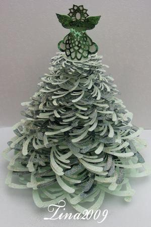 3D Christmas Tree & Angel.......SVG