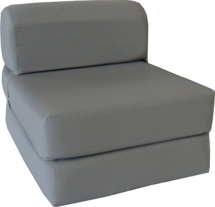 gray sleeper chair folding foam bed sized thick x wide x long studio guest foldable chair beds foam sofa couch high density foam pounds