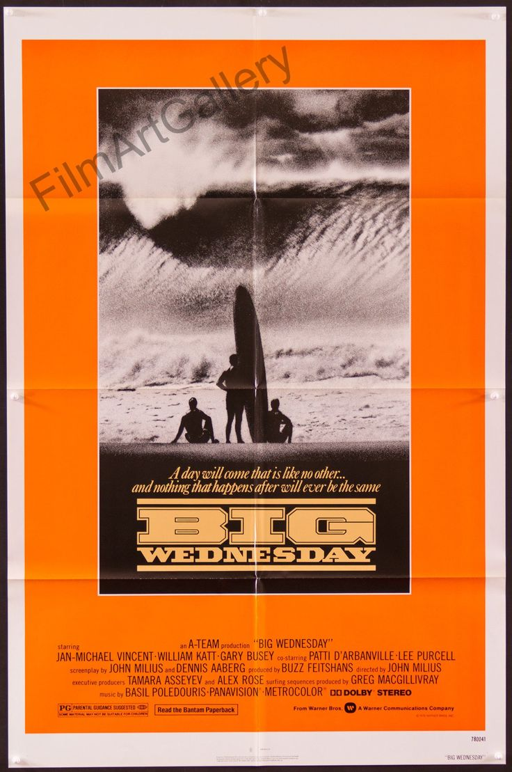 Vintage original Big Wednesday movie poster | Thousands of extraordinary vintage original film posters. Online and in Los Angeles