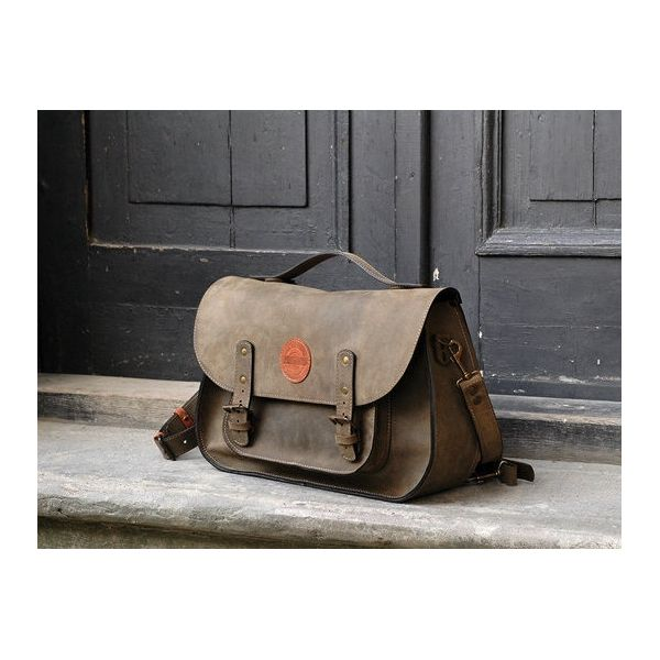 PRODUCTS :: WOMEN :: ACCESSORIES :: Bags & Handbags :: leather messenger backpack office bag Ladybuq khaki - Design products from around the world - DESIGN FORUM SHOP