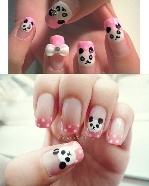 Panda nails which I have to try on my own nails one day!