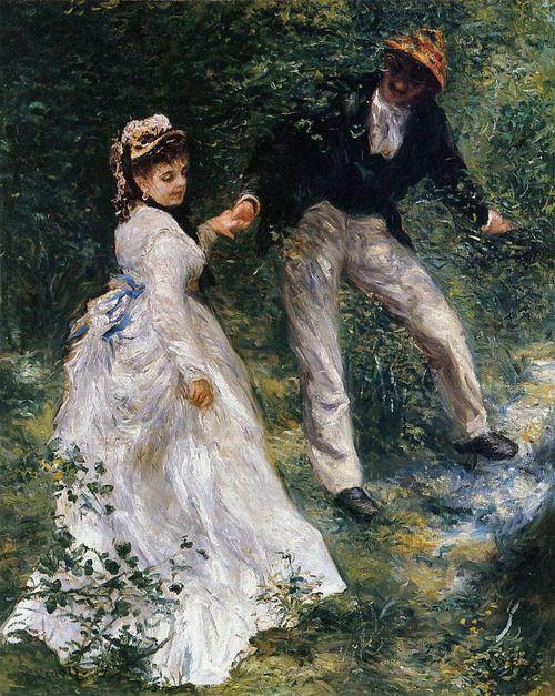 La Promenade by Auguste Renoir, 1870