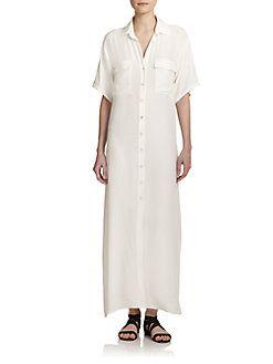 Frame - Le Хлопок Макси платье рубашки