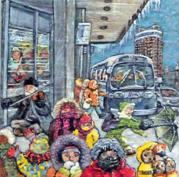 Miyuki TANOBE - Le violoniste au métro Sherbrooke